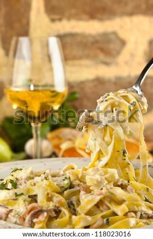 Salomon Tagliatele Pasta - stock photo
