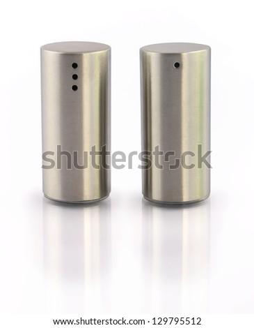 Salt and Pepper Shaker - stock photo