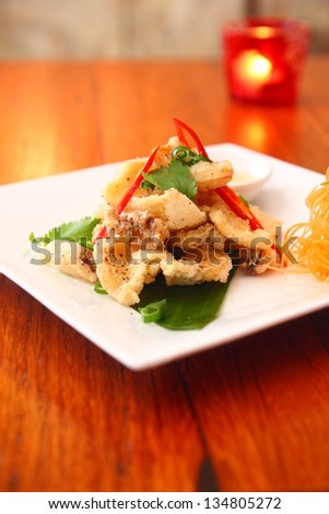 Salt and pepper squid - stock photo