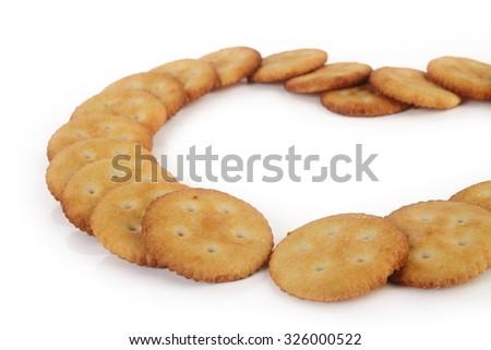 Salt Biscuits  - stock photo