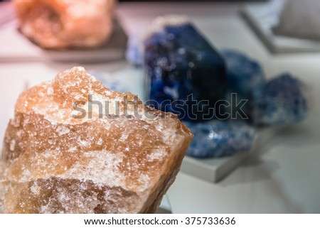 Salt crystals. Colored crystals salt - stock photo