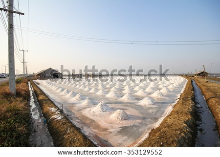 Salt fields, Phetchaburi, Thailand.