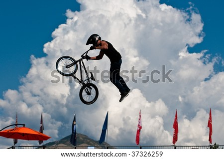 SALT LAKE CITY, UT - SEPTEMBER 18: Craig Mast competes at the 2009 Dew Tour Toyota Challenge held in Salt Lake City, Utah on September 18, 2009. - stock photo