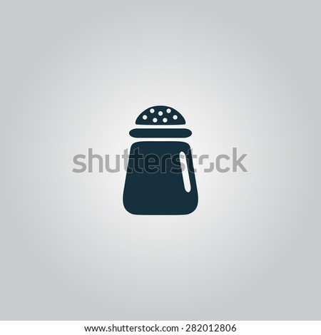 Salt or pepper - icon isolated. Flat web icon, sign or button isolated on grey background. Collection modern trend concept design style illustration symbol - stock photo