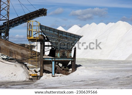 Salt production in Italy/machinery for the treatment of the salt