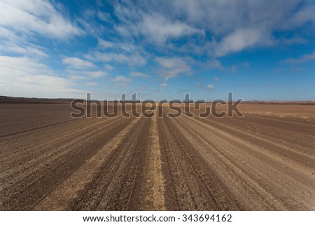Salt road from Skeleton coast, Namibia - stock photo