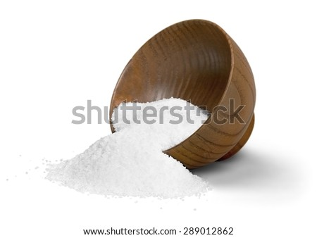 Salt, Sea, Bowl. - stock photo