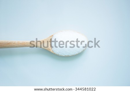 salt white  food cooking on spoon and background
