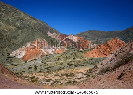 Salta province surrounds Jujuy - stock photo