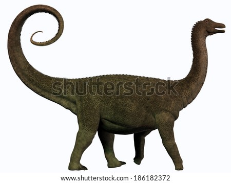 Saltasaurus Profile - Saltasaurus was a sauropod dinosaur of the Cretaceous Period of Argentina. - stock photo