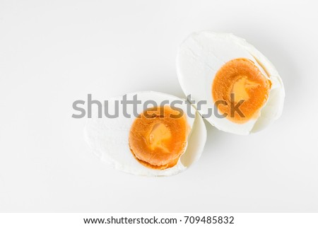 salted egg isolated on white