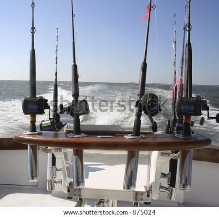 Saltwater Fishing Reels - stock photo