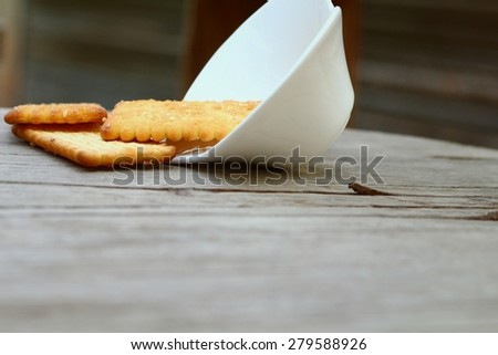 Salty Crackers - stock photo