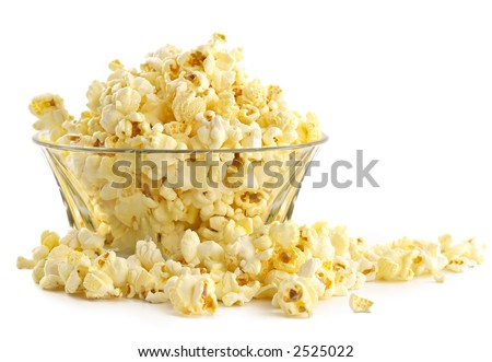 Salty popcorn-fine addition to rest at a cinema - stock photo