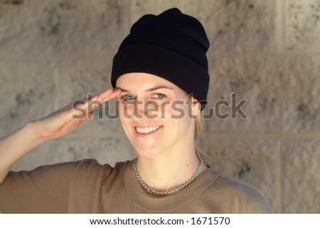 salute - stock photo