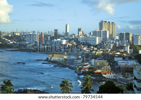 Salvador city - Bahia - Brazil - stock photo