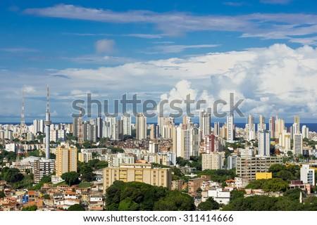 Salvador cityscape, Bahia, Brazil. - stock photo