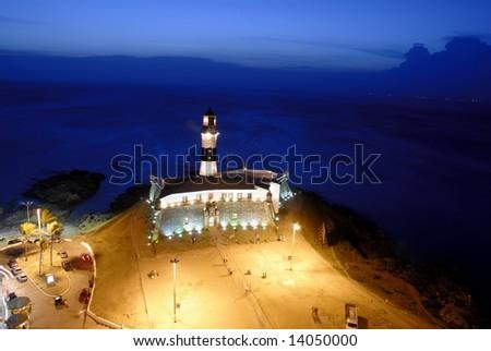 Salvador of Bahia at Night - Brazil . - stock photo