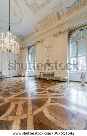 SALZBURG, AUSTRIA - JULY 31, 2014: The Salzburg Residenz palace is located at Domplatz and Residenzplatz and was home for centuries of the Archbishops of Salzburg.