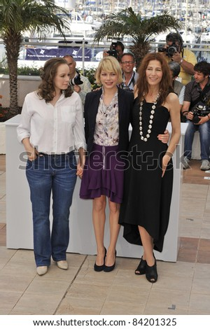 "Samantha Morton, Michelle Williams & Catherine Keener at photocall for ""Synecdoche, New York"" at the 61st Annual Cannes Film Festival.  May 23, 2008  Cannes, France. Picture: Paul Smith / Featureflash - stock photo"