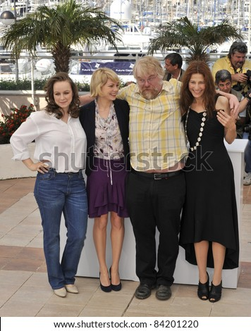 "Samantha Morton, Michelle Williams, Philip Seymour Hoffman & Catherine Keener at photocall for ""Synecdoche, New York"". 61st Annual Cannes Film Festival.  5-23-08  Cannes, France. - stock photo"