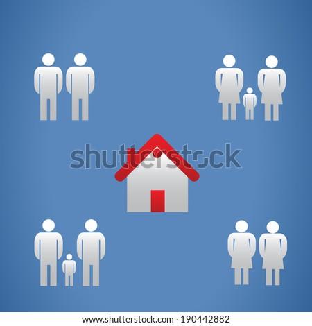 Same gender families - stock photo