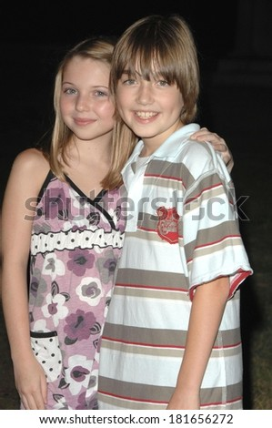 Sammi Hanratty, Field Cate at ABC Sneak Peek of PUSHING DAISIES, Hollywood Forever Cemetery, Los Angeles, CA, August 16, 2007 - stock photo