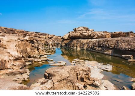 Sampanbok ,grand canyon of Thailand - stock photo