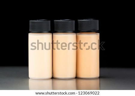 Sample of a foundation bottle for make up - stock photo