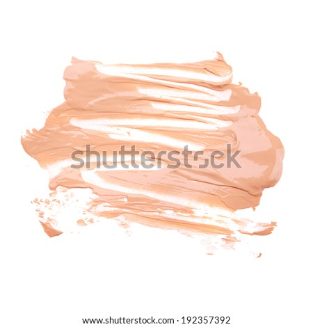 Sample of liquid foundation