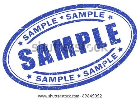Sample stamp - stock photo