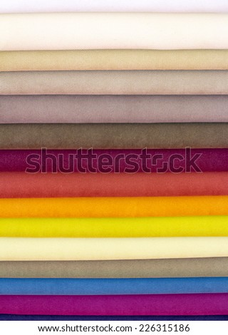 Samples color of fabric for upholstery the furniture - stock photo