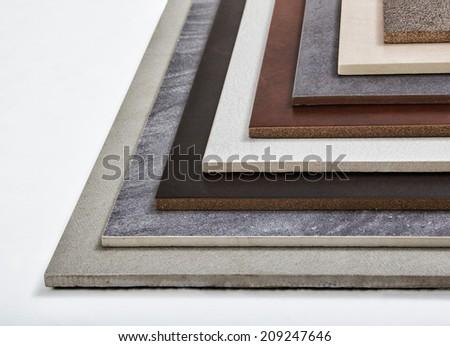 Samples of a ceramic tile - stock photo