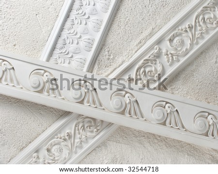 Samples of a stucco moulding from plaster