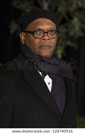 Samuel L Jackson arriving for the 2013 BAFTA After Party, Grosvenor House Hotel Park Lane, London. 10/02/2013 Picture by: Simon Burchell - stock photo