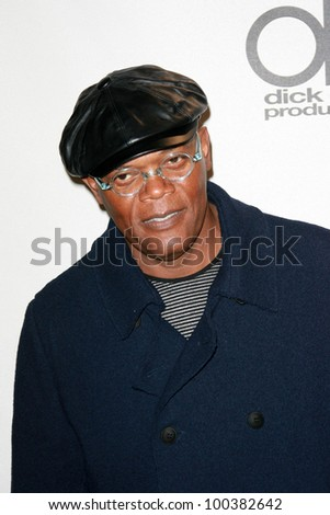 Samuel L. Jackson  at the 2010 American Music Awards Press Room, Nokia Theater, Los Angeles, CA. 11-21-10 - stock photo