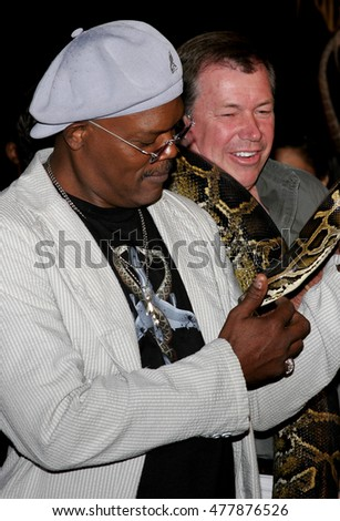 Samuel L. Jackson at the Los Angeles premiere of 'Snakes on a Plane' held at the Grauman's Chinese Theatre in Hollywood, USA on August 17, 2006.
