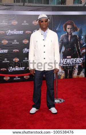 "Samuel L. Jackson at the ""Marvel's The Avengers"" Los Angeles Premiere, El Capitan Theatre, Hollywood, CA 04-11-12 - stock photo"