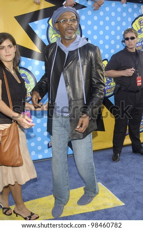 SAMUEL L. JACKSON at the 2003 MTV Movie Awards in Los Angeles. May 31, 2003 - stock photo