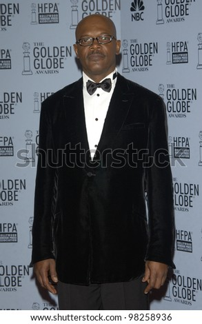 SAMUEL L. JACKSON at the 60th Annual Golden Globe Awards at the Beverly Hills Hilton. 19JAN2003.  Paul Smith / Featureflash - stock photo