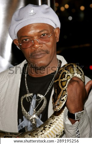 Samuel L. Jackson attends the Premiere of 'Snakes on a Plane' held at the Grauman's Chinese Theater in Hollywood, California on August 17, 2006.  - stock photo
