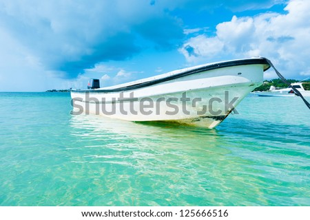 San Andres Island at the Caribbean, Colombia, South America - stock photo
