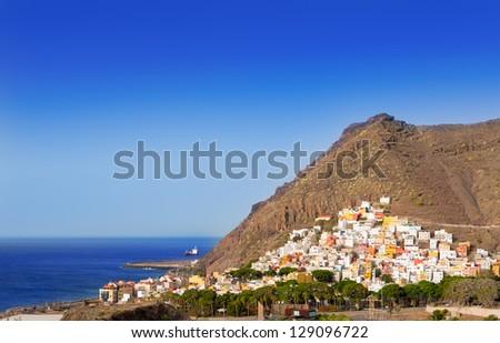 San Andres near beach Las Teresitas in Santa cruz de Tenerife north - stock photo