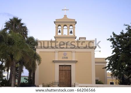 "San Antonio de Padua "" Saint Anthony"" Catholic Church in Dorado, Puerto Rico. - stock photo"