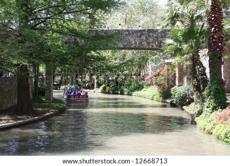 San Antonio Riverwalk in Texas - stock photo
