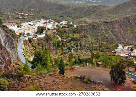 San Bartolome de Tirajana, Gran Canaria, Canary Islands, Spain - stock photo