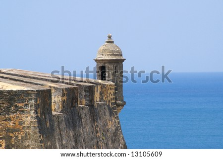 san cristobal fort in san juan de puerto rico - stock photo
