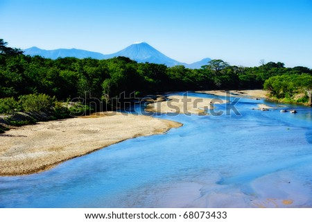 San Cristobal Volcano Located in Nicaragua - stock photo