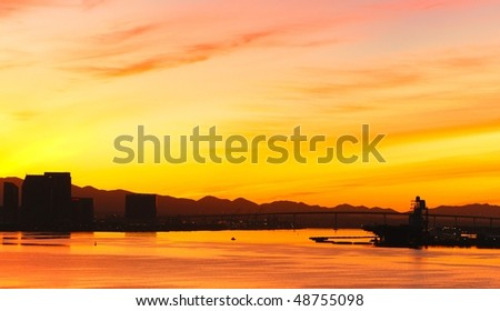 San Diego at sunrise - stock photo