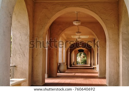 San Diego Balboa Park scenic old Spanish architecture vintage churches arches